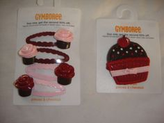 Gymboree-Sweet-Treats-Hair-Accessories-NWT-3-4-5-6-7-UPICK-cupcake-bon-bon
