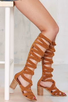 30cd00dac10 Shop the latest women s clothing and fashion accessories online from Nasty  Gal. Jeffrey Campbell Suede Fringe Gladiator Heels ...