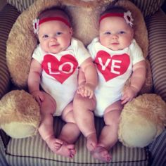 Oh, there's PLENTY to love here - it's like an armload of ridiculous fat baby flab. Cute Baby Twins, Twin Baby Girls, Cute Little Baby, Baby Kind, Twin Babies, Little Babies, Baby Love, Newborn Twins, Twin Baby Photos