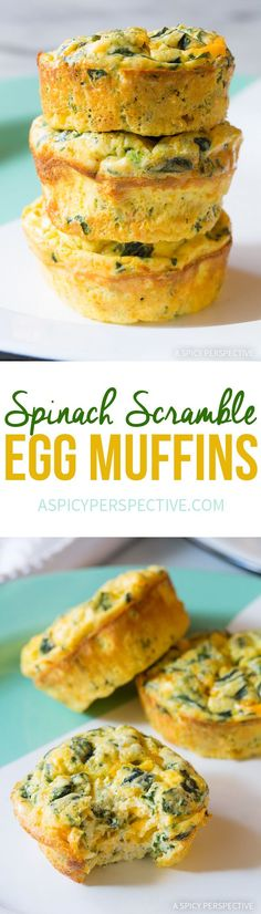 Get Your Greens In The AM! Spinach Scramble Egg Muffins Recipe (Low Carb and Gluten Free!)