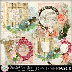 Digital Scrapbooking Kits | Devoted to You Cluster Accents-(ADBD) | Family, Heritage, Holidays - Mother's Day, Love, Vintage | MyMemories