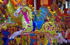 Carousel Horse 2 | One of the many brightly painted horses of the carousel at the Trafford centre in England    Martin Standish