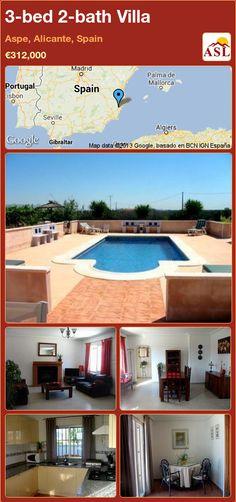 3-bed 2-bath Villa in Aspe, Alicante, Spain ►€312,000 #PropertyForSaleInSpain