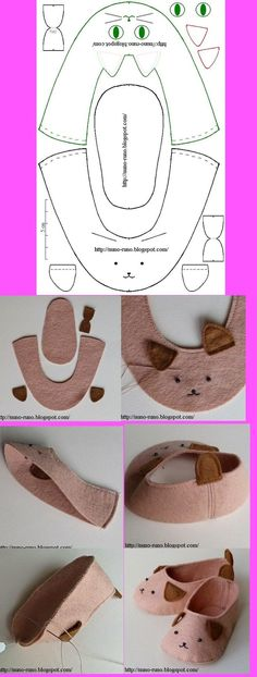 Cute puppy dog slippers/booties for children and babies.