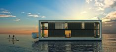 Arkup floating homes, Arkup, Koen Olthius, Waterstudio, floating homes, solar power, solar panels, off-grid living, green architecture, waste management, flood-proof architecture, rainwater harvesting, zero-emission