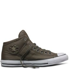 Chuck Taylor All Star High Street Car Leather Engine Smoke Black White - Sneakers - Women