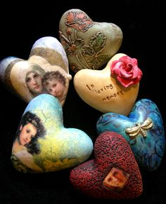 New heart experiments by tejaesart, via Flickr. These are beautiful,would love to be able to make and give these.