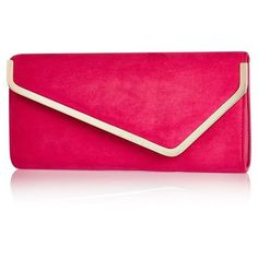 River Island Pink faux-suede envelope clutch handbag ($30) ❤ liked on Polyvore featuring bags, handbags, clutches, bags / purses, clutch bags, pink, women, pink envelope clutch, envelope clutch bag and pink purse
