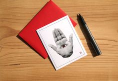 Hamsa Hand Card  Greeting Card  Invitation  Thank You by Sabastica