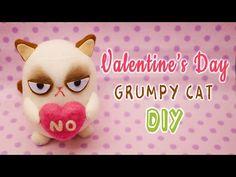 DIY Valentine's Day Grumpy Cat Sock Plushie Tutorial