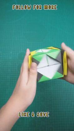 Instruções Origami, Modular Origami, Paper Crafts Origami, Origami Toys, Oragami, Paper Folding Crafts, Paper Crafts For Kids, Diy Crafts Hacks, Diy Crafts For Gifts