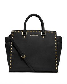 Dying for this!! MICHAEL Michael Kors  Large Selma Studded Saffiano Tote.