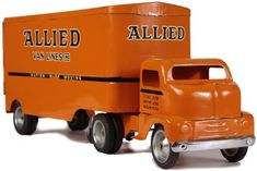 1953 Tonka Toys Allied Van Lines Semi Truck and Trailer