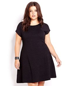 One of my favourite purchases of the last month has been this wonderful textured, stretch skater or swing dress by Michel Studio for Addition Elle. It's the perfect dress. I can dress it up with sh...