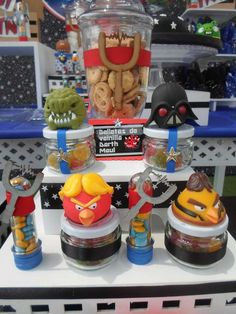 Treats at an Angry Birds Star Wars birthday party! See more party ideas at CatchMyParty.com!