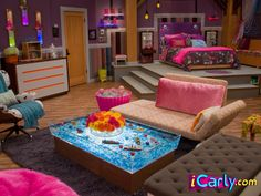 I love the iCarly bedroom. This would be MY room in my future house. Dream Rooms, Dream Bedroom, Girls Bedroom, Bedrooms, My New Room, My Room, Icarly Bedroom, Bedroom Inspo, Bedroom Decor