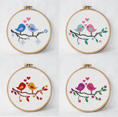 4 love cross stitch pattern tree with birds от AnimalsCrossStitch