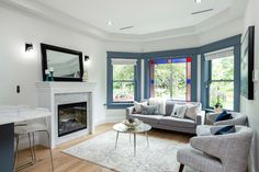 Living room designed by Madeleine Design Group in Vancouver's West End neighbourhood. *Re-pin to your inspiration board*