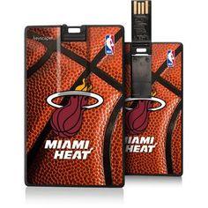 Miami Heat Basketball Design USB 8GB Credit Card Style Flash Drive by Keyscaper, Multicolor