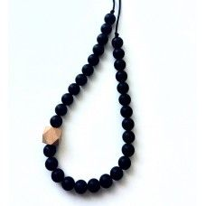 Bubba Chew Black and Beechwood Necklace