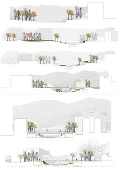 52 Trendy Landscape Architecture Masterplan Posts Coming from town government bedrooms for you to Landscape Architecture Design, Architecture Graphics, Architecture Drawings, Concept Architecture, Masterplan Architecture, Landscape Architecture Section, Site Analysis Architecture, Architecture Diagrams, Classical Architecture