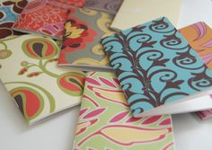DIY Super simple pocket sized notebooks. Great to carry in your purse or give as gifts!