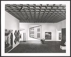 Interior view of the Whitney Museum of American Art, from the Marcel Breuer papers - Image Gallery Viewer Marcel Breuer, Whitney Museum, American Art, New Art, Architecture, Gallery, Interior, Furniture, Image