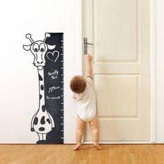Cartoon Giraffe Height Ruler Line Growth Chart Background Wallpaper Chalkboard Kids Nursery Room Classroom Daycare Giraffe Nursery, Baby Nursery Decor, Nursery Room, Bedroom, Murals For Kids, Art Wall Kids, Wall Art, Nursery Wall Stickers, Wall Decal Sticker