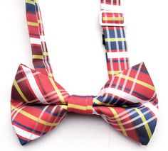 OCIA® Mens Plaid Microfiber Pre Tied Handmade Bow Tie - ND007 at Amazon Men's Clothing store: