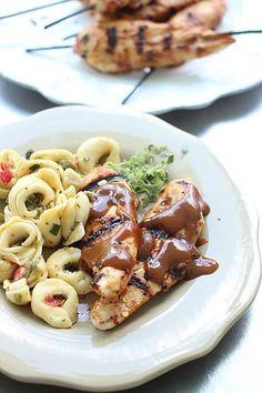 Hoisin-Dijon Chicken Skewers