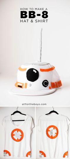 DIY BB-8 Droid hat & shirt costume. Perfect for a Star Wars Run Disney costume, halloween or just a trip to Disneyland or Walt Disney World!