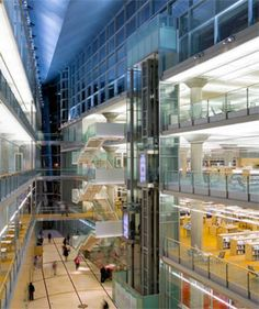 Inside the Hennepin County Public Library in Minneapolis. Best place to study.