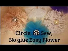Wrap Flower, no sew, Shabby Chic tutorial, fabric, DIY 4s1, Easy, by Crafty Devotion - YouTube