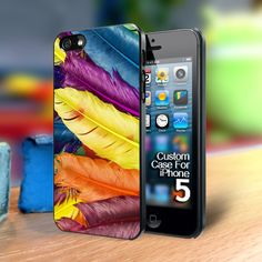 TP219 Feather color Iphone 5 case | TheYudiCase - Accessories on ArtFire