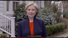 Hillary Clinton announcement website grab (11 April)