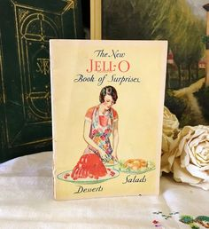 The New Jell O Book Of Surprises Vintage 1930 Cookbook Desserts Salads Jello Recipe Advertising Pamphlet Cooking Kitchen Collectible