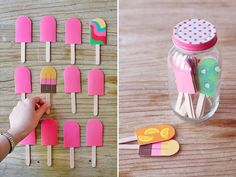 Popsicle memory game. I like the mason jar to keep it all in one place too.