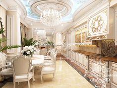Великолепный интерьер кухни в стиле Ар Деко. Планировки