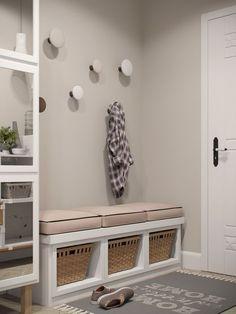 Touches de bois dans un intérieur blanc et gris - Picslovin