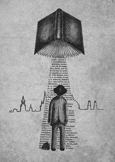 Take Me To Your Reader A4 art print by Jon Turner by JonTurner