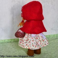 Boneca de feltro Chapéuzinho Vermelho passo a passo