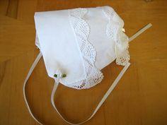 DIY Tutorial - Making a Hankie Bonnet Out of Wedding Handkerchiefs