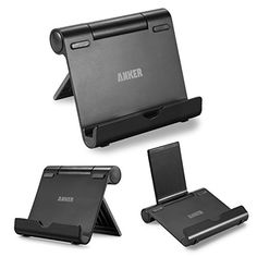 Anker Multi-Angle Aluminum Stand for Tablets, e-readers and Smartphones, Compatible with iPhone, iPad, Samsung Galaxy / Tab, Google Nexus, HTC, LG, Nokia Lumia, OnePlus and More (Black)