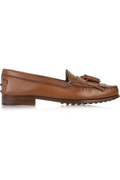Tod's | Tasseled leather loafers | NET-A-PORTER.COM