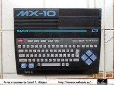 MSX Casio MX-10, Fotos y propietario David F. Gisbert (Tromax) Usuario informatico de Amiga, MSX, coleccionista de microordenadores y videoconsolas