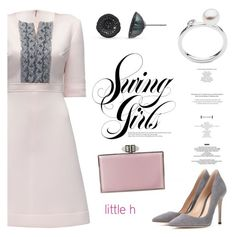 """Light Pink by Little h Jewelry"" by littlehjewelry ❤ liked on Polyvore featuring Lattori, Gianvito Rossi and Judith Leiber"