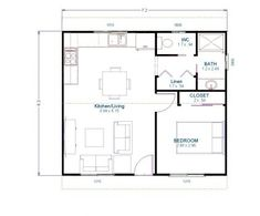Wide range of kit home plans for the owner builder. Mecano kit homes makes construction simple with an easy to assemble high-tensile steel frame. Garage Granny Flat, Granny Pod, Kit Homes, Tiny House, House Plans, Floor Plans, Cottage, How To Plan, Sheds