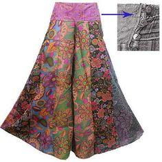 wide-leg long gaucho pants