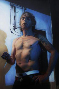 Artista: Ado-Nay ( Manuel Rivero ) Título: Candi Murillo. 140x90 cm. Óleo sobre tabla. 2015