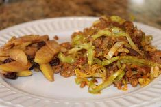 """Sausage and Cabbage """"noodles"""""""